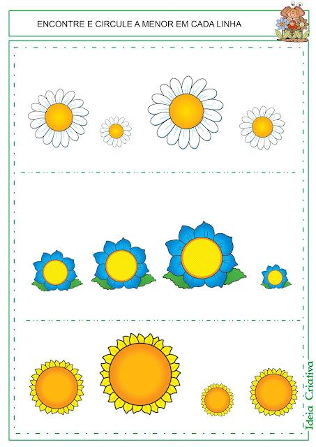 Fichas Primavera para Imprimir e trabalhar conceitos