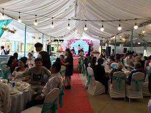 Rạp đẹp màu mint - tiệc cưới 70 bàn