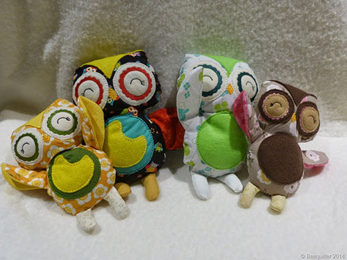 Owls made by Beaquilter