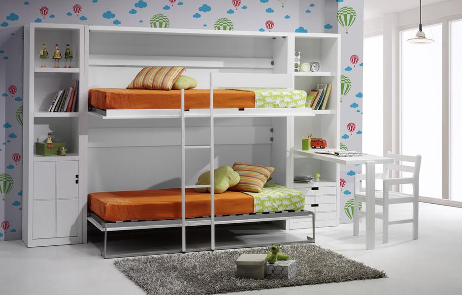Cama individual y palacio de juegos - Dormitorios con poco espacio ...