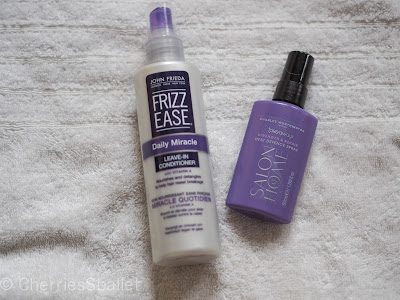John Freida Frizz Ease Daily Miracle Leave-In-Conditioner, Charles Worthington Strength & Repair Heat Defence Spray