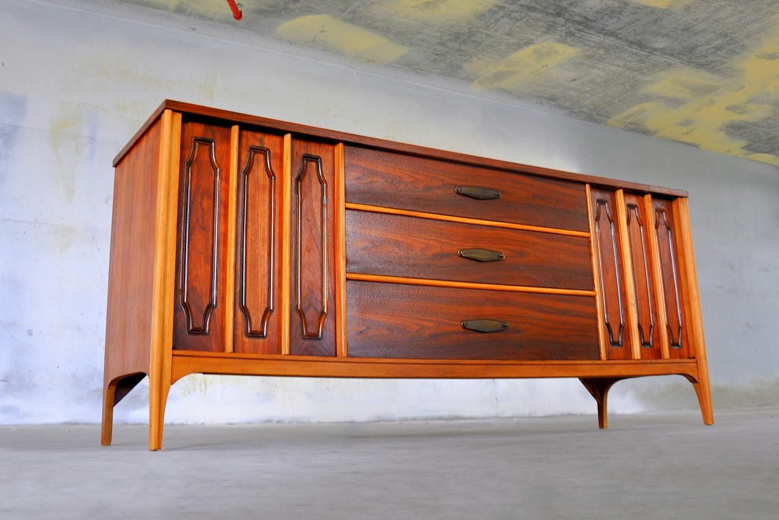 Select Modern Kent Coffey Triple Dresser Credenza