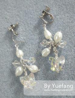 cluster_clip_on_earrings_to_match_flowery_bracelet