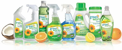 Green Works cleaning products, from Clorox