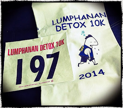 Lumphanan Detox 10K Race Bib and Tshirt