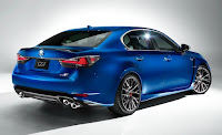 2016 Next Gen Lexus GS F performance back side view