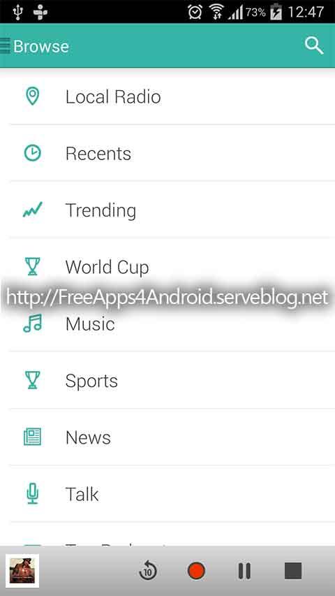 TuneIn Radio Pro Free Apps 4 Android