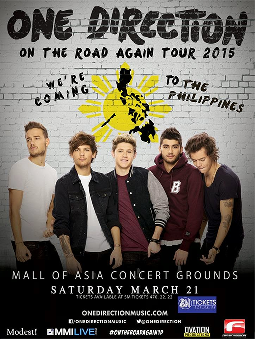 one direction, concert, manila, tickets