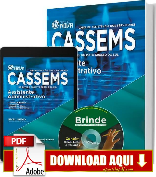 Apostila CASSEMS 2015 PDF Download Grátis Assistente Administrativo