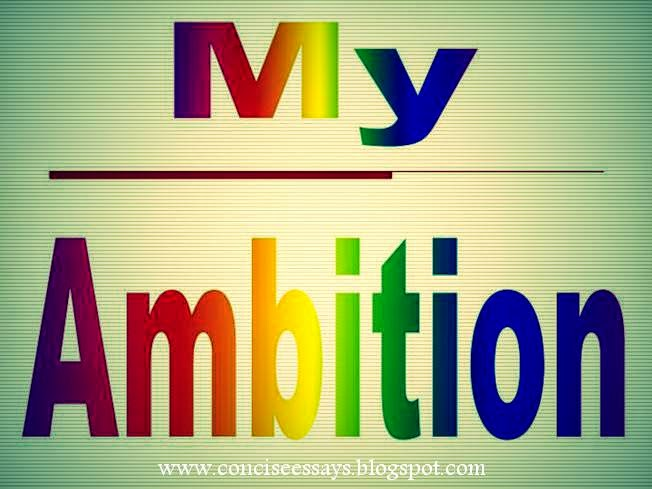 paragraph on ambition in life