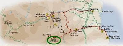 Prats de Molló en el mapa