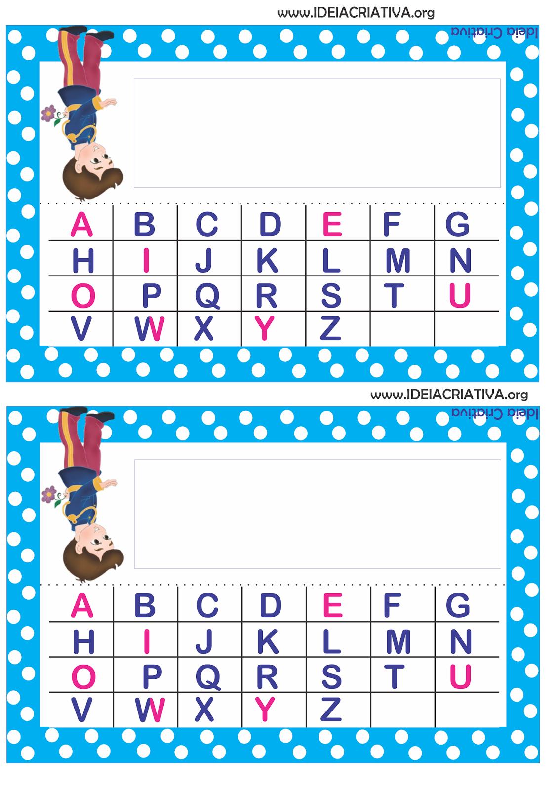 Crachás de Mesa Príncipe e Princesa com Alfabeto Bastão e  Cursivo