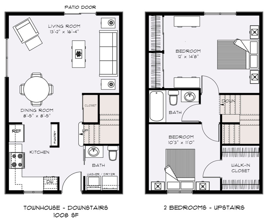 Practical living buying from and understanding floor for Small townhouse floor plans