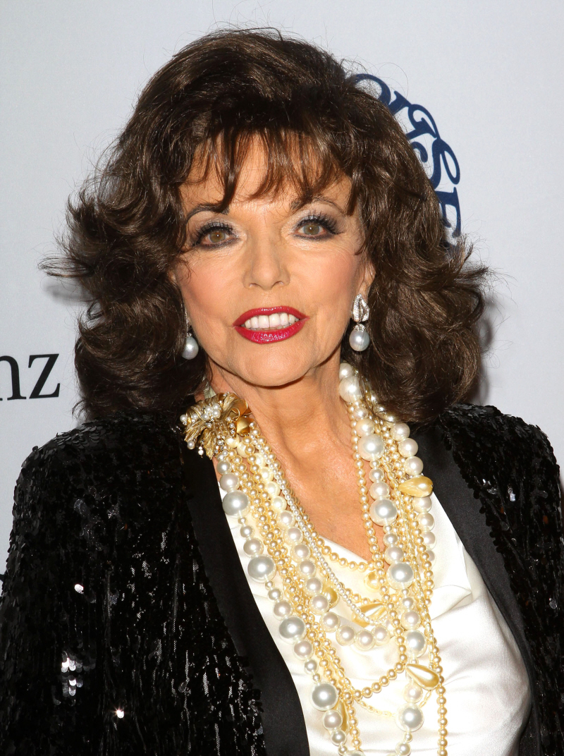 Joan collins 2012 without makeup collins revealed that she