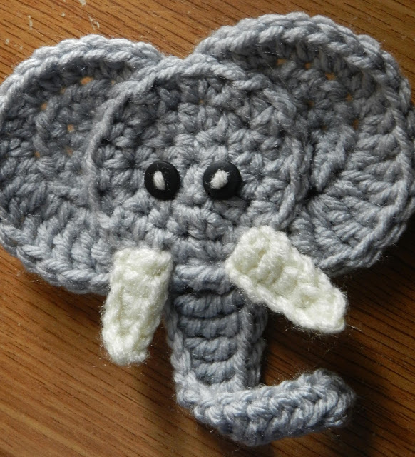 Crochet Patterns Elephant : Crochetpedia: 2D Crochet Elephant Applique