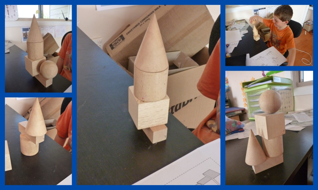 Mr Yr1 also had a go at copying some 3D shape towers to see if they ...