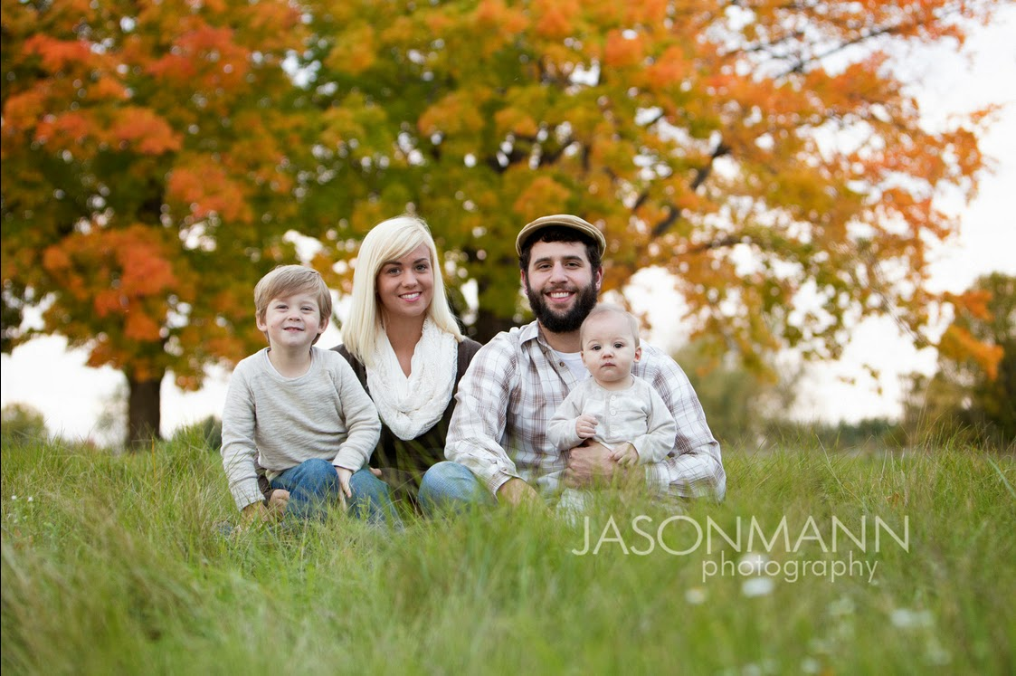 Door County Family Portraits Outdoor, Fall Family Photos