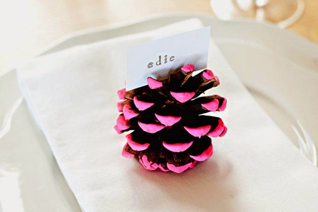 Thanksgiving in pink pinecone