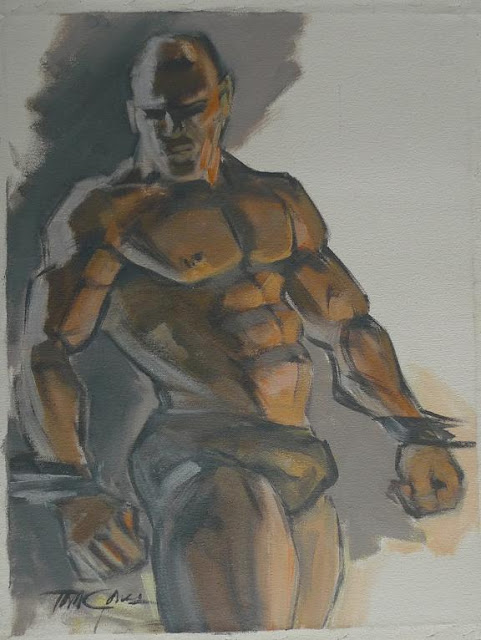 MALE DRAWING ART BLOG : TOM JONES PAINTING
