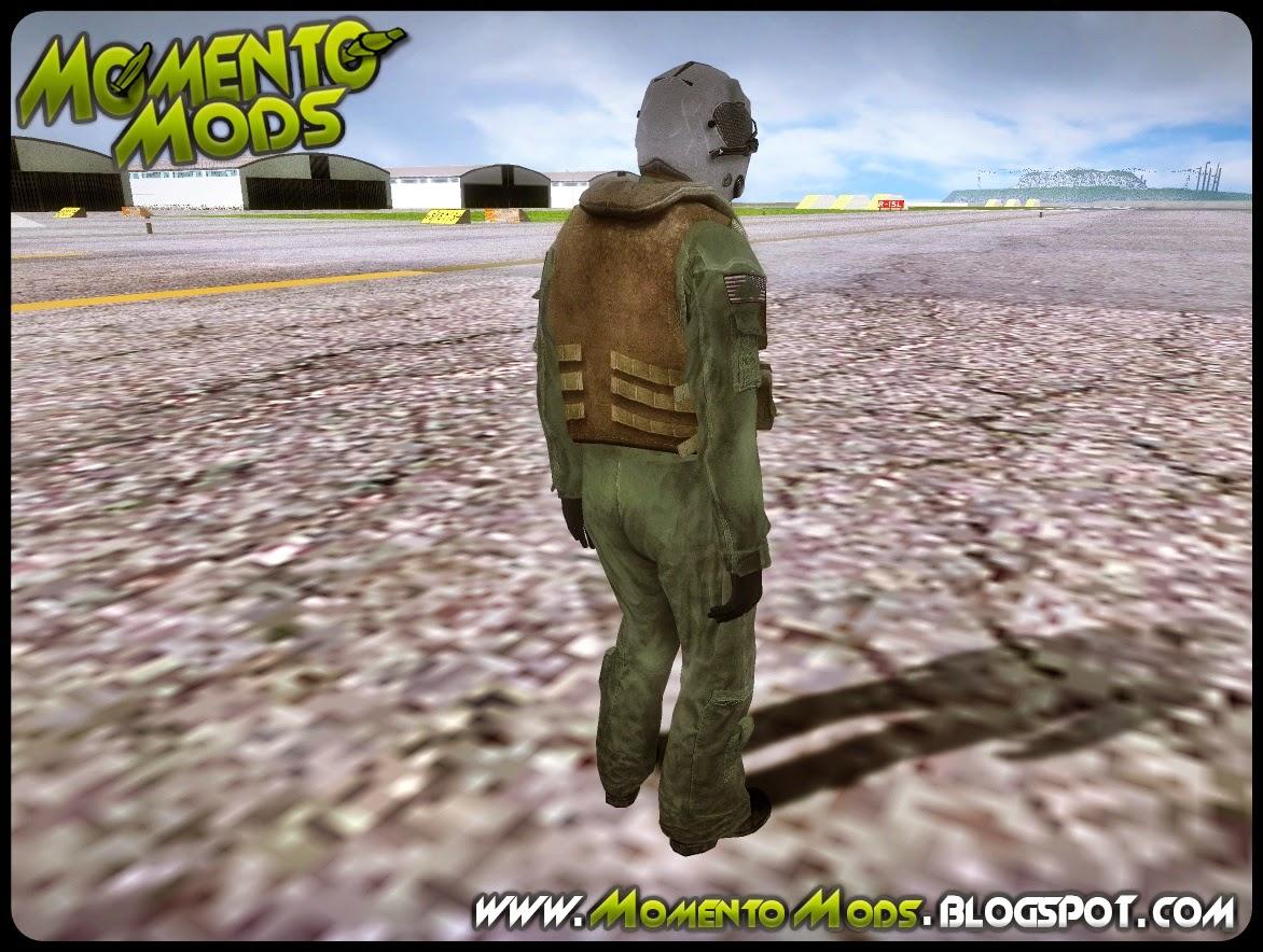 GTA SA - Skin Piloto De Jato