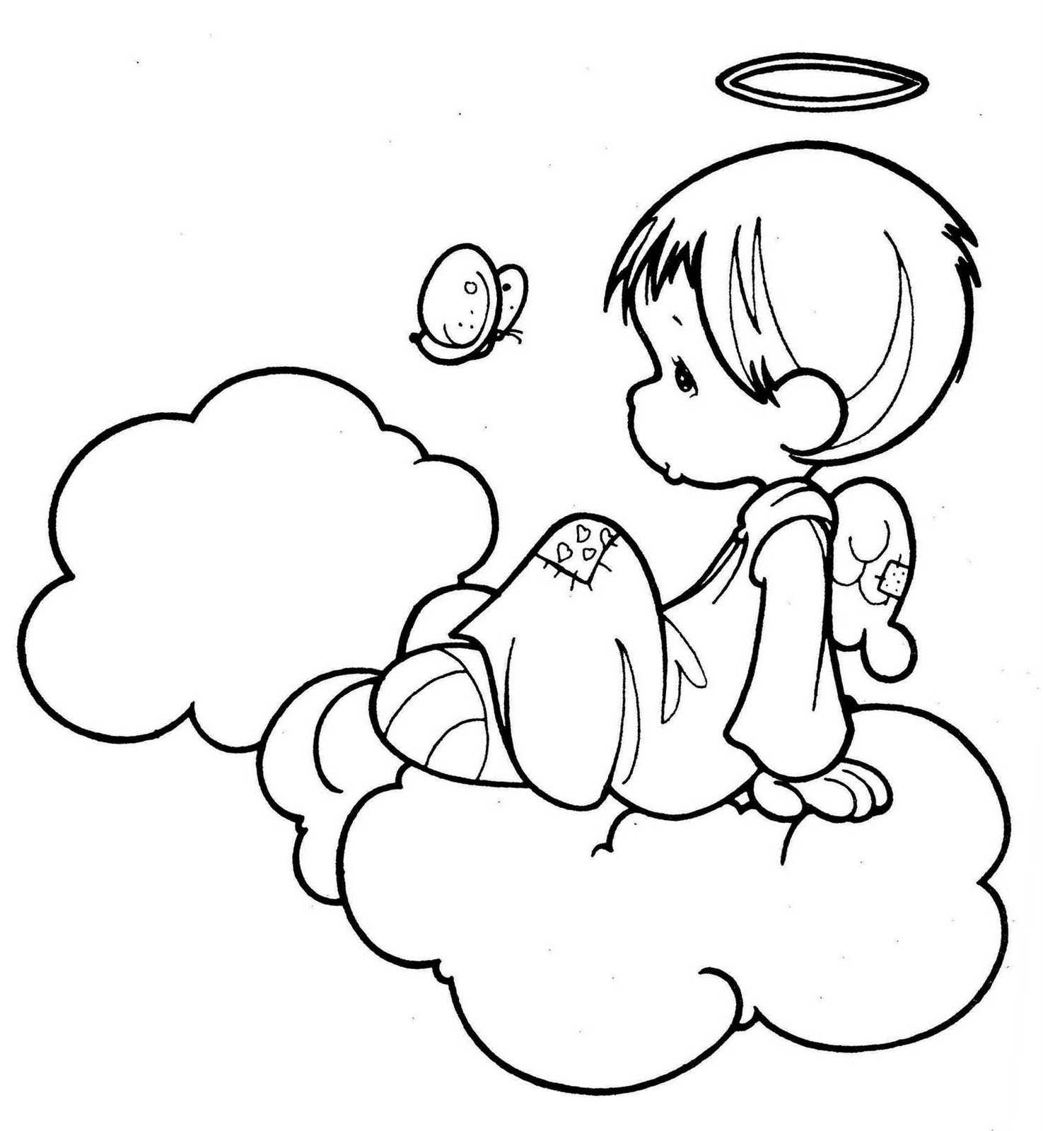 Angel coloring pages for Coloring page angel