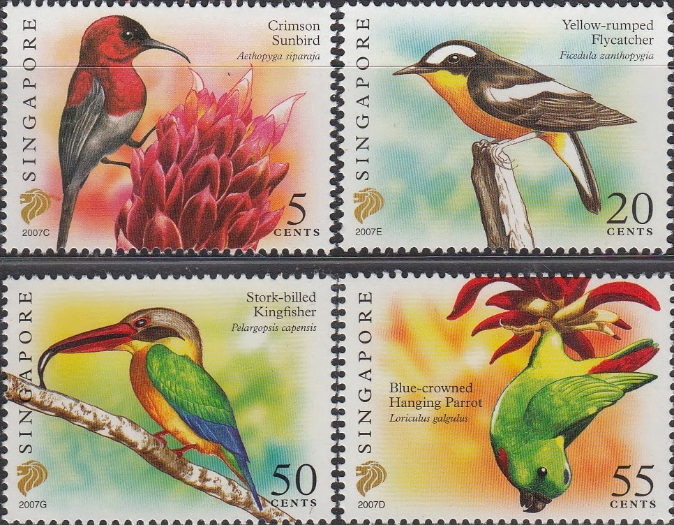 Singapore ~ Birds Stamp, (thematic Bird stamps)