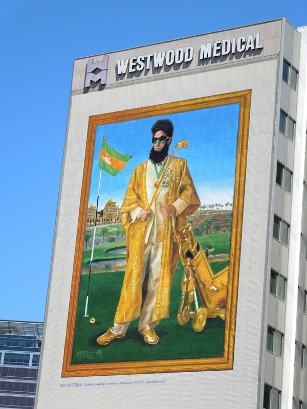 The Dictator golf billboard