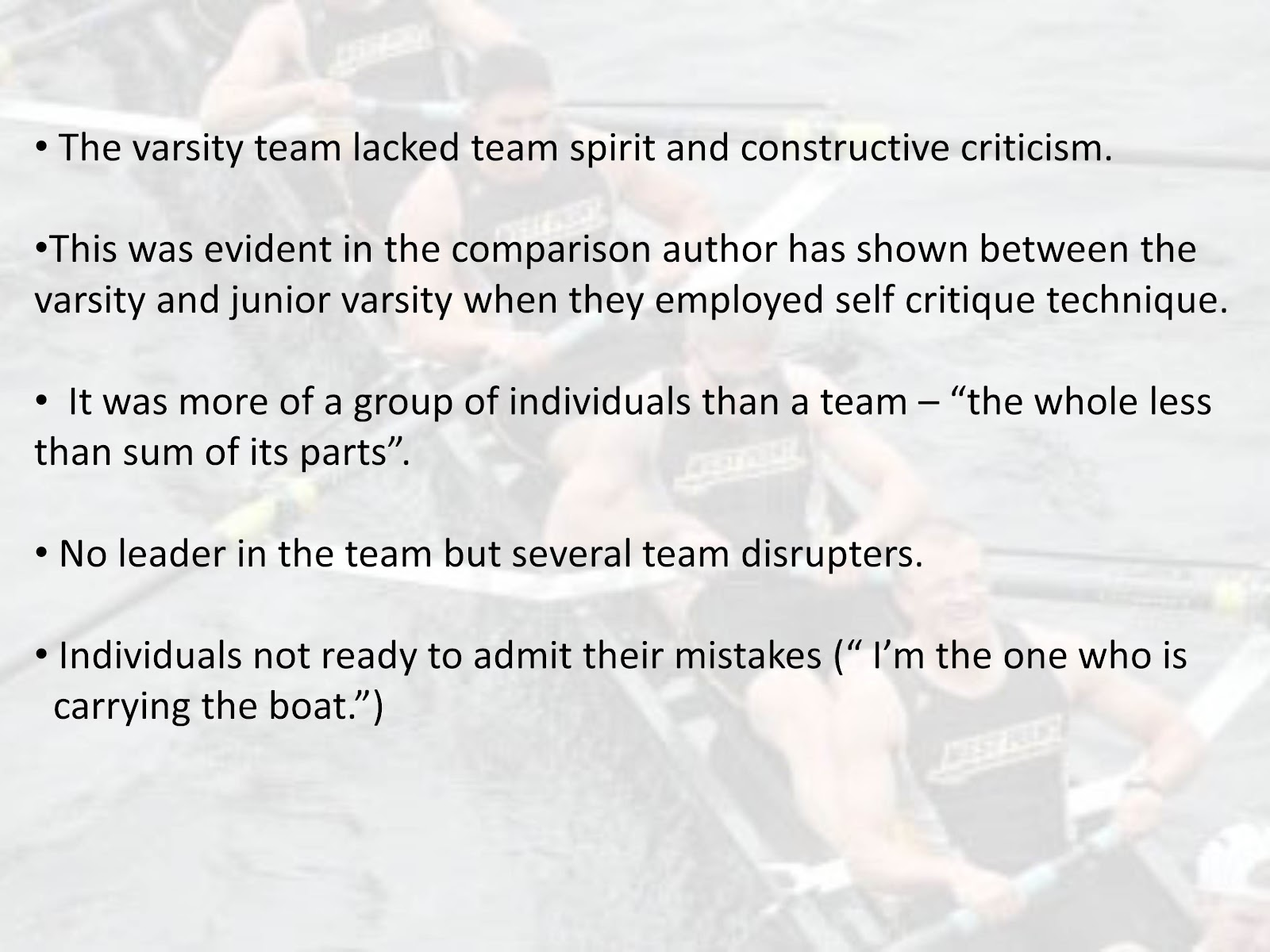 an essay on the sport of crew