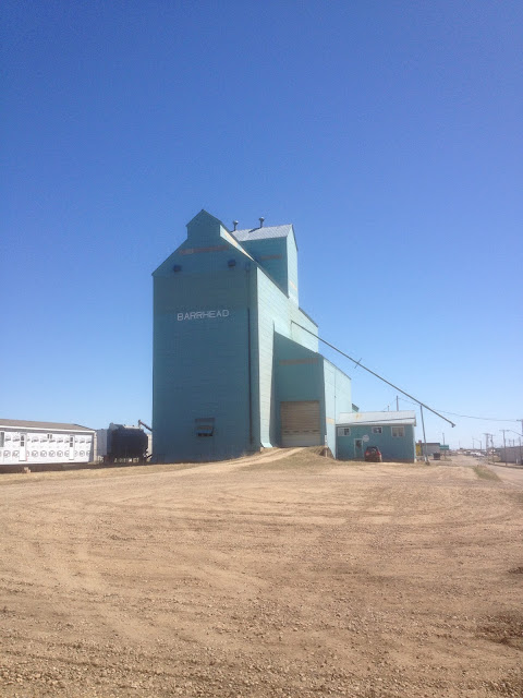 Grain elevator in Barrhead.  The railway is gone, but the elevator still stands.