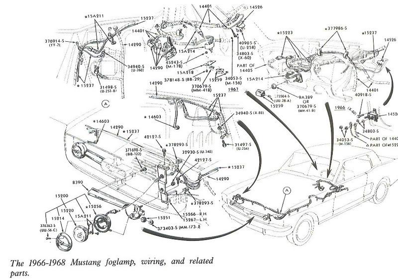 Free Auto Wiring Diagram 19661968 Mustang Foglamp Wiring