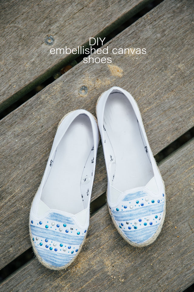 diy embellished canvas shoes lotts and lots diy and