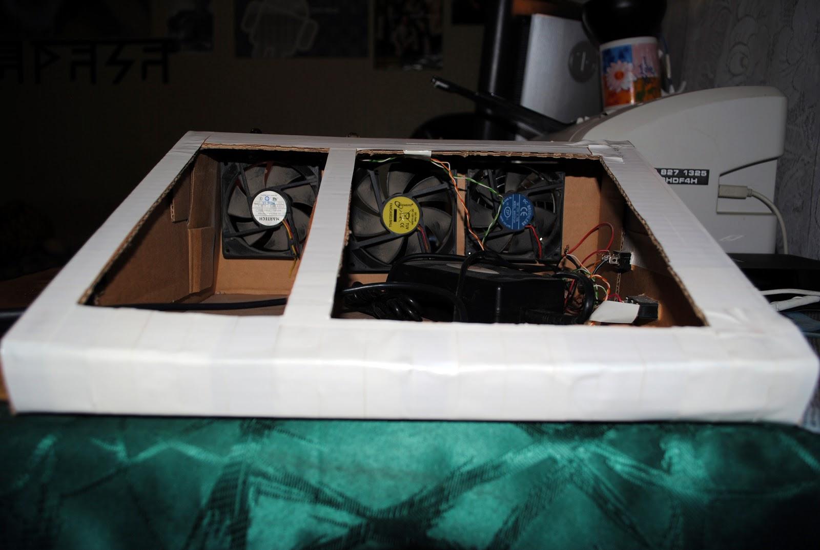 Самодельная охлаждающая подставка под ноутбук. Как сделать 100