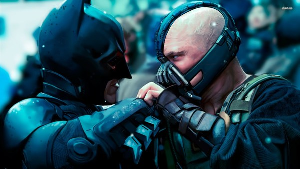 The Dark Knight Rises Bane and Batman HD Movie Wallpaper
