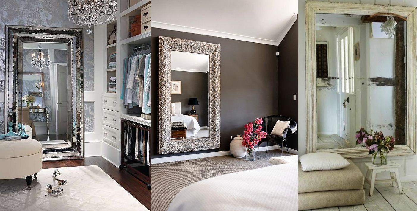 espejos grandes en el dormitorio casas ideas