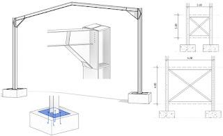 _pour travailler efficacement en structure mtallique il convient au pralable de tracer un quadrillage sur lequel on verrouillera les lments de - Plan Maison Structure Metallique