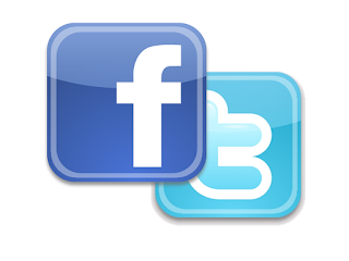 facebook twitter logo combo