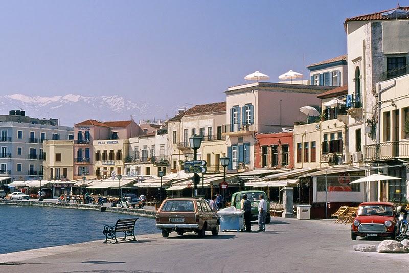 Les quais du port vénitien à Hania (Crète, Grèce)