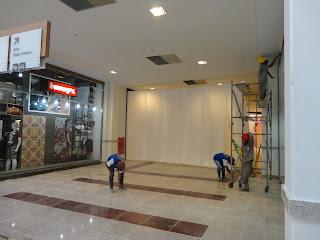 Início do novo corredor do Cariri Shopping.