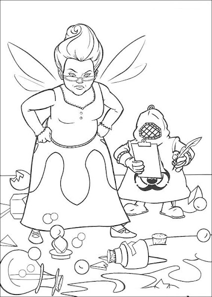 Shrek Fairy Godmother Coloring Pages