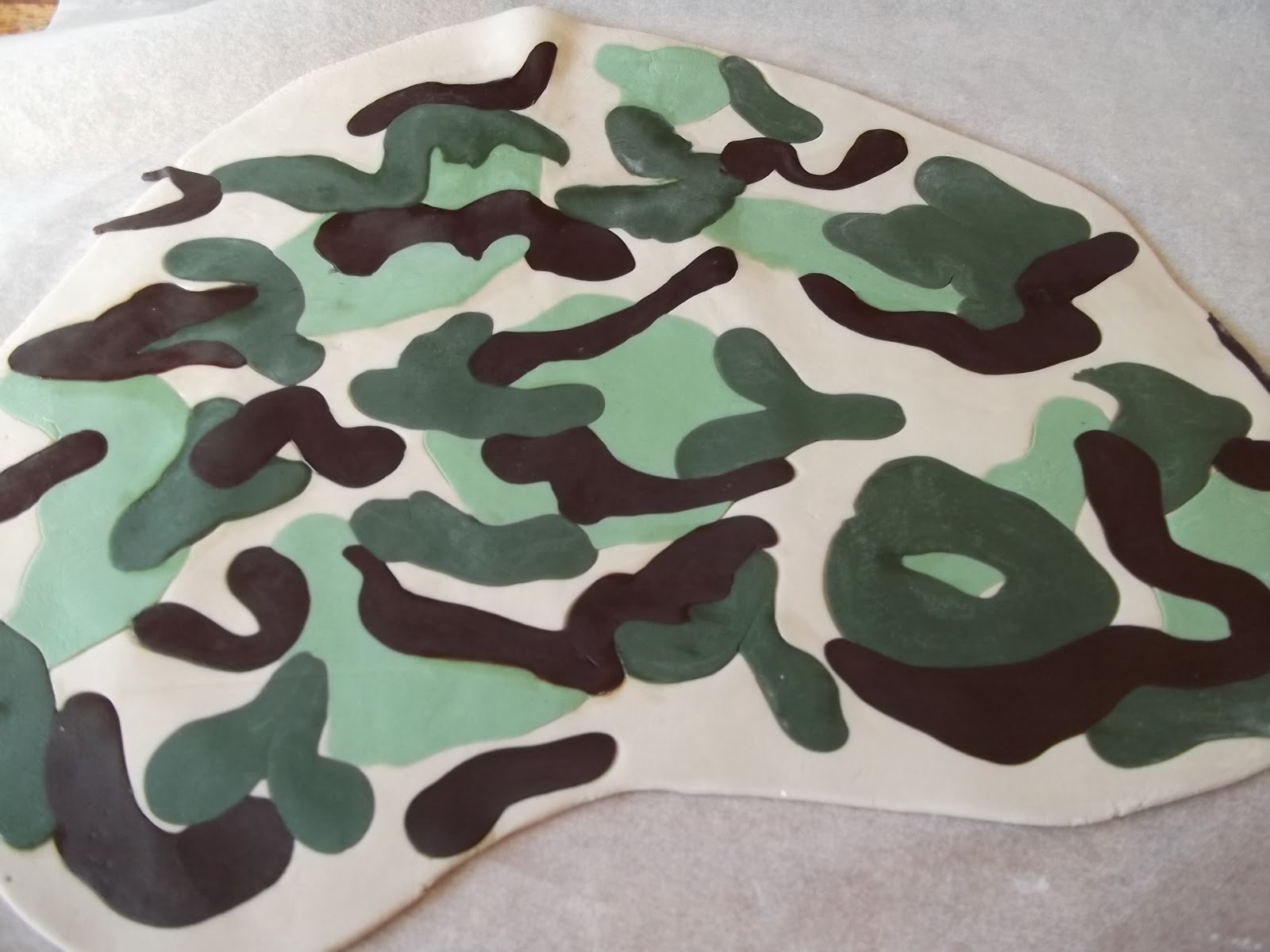 Kiwi Cakes How to make Camouflage icing
