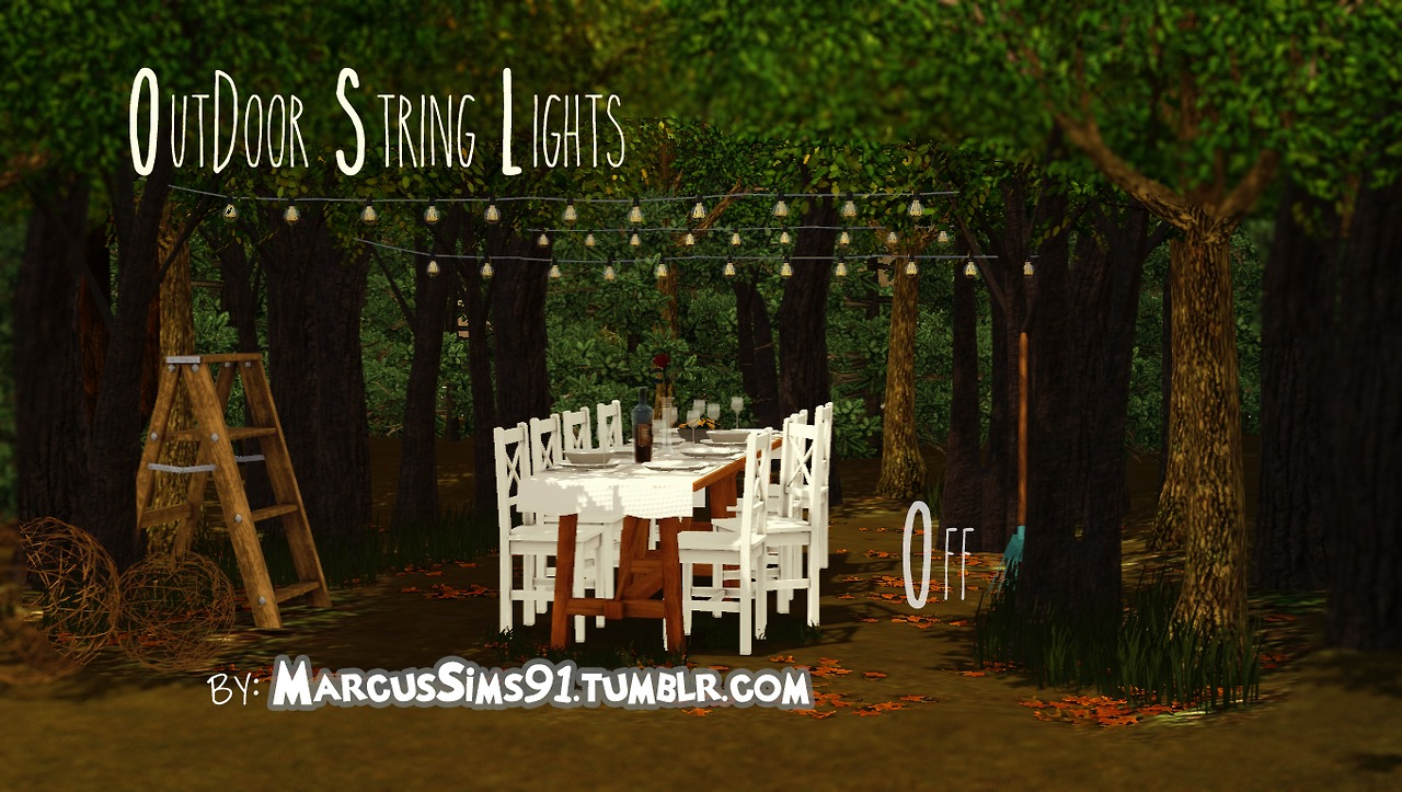 String Lights Sims 4 : My Sims 3 Blog: Outdoor String Lights by Marcussims91