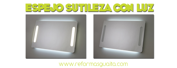 Espejo con iluminaci n ambiental y frontal reformas guaita for Espejos con luz integrada