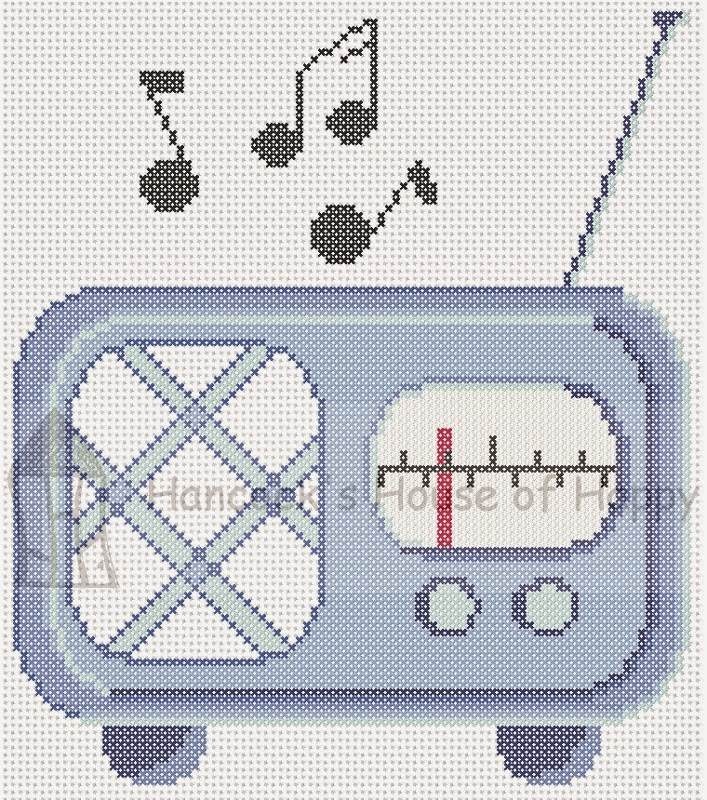 Free Retro Radio Cross Stitch Chart