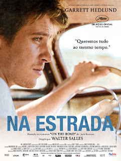 """Cartaz brasileiro do novo filme de Walter Salles, """"Na Estrada"""""""