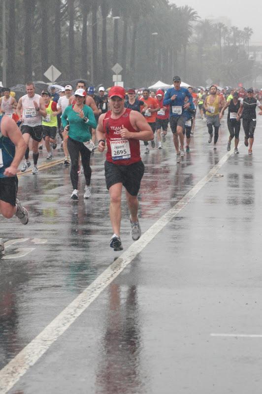 L.A. Marathon 2011 torrential rain