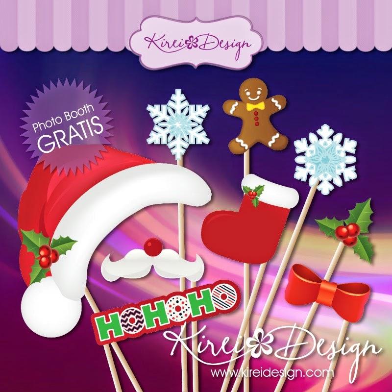 Navidad: Photo Booth props gratis - KIREIDESIGN
