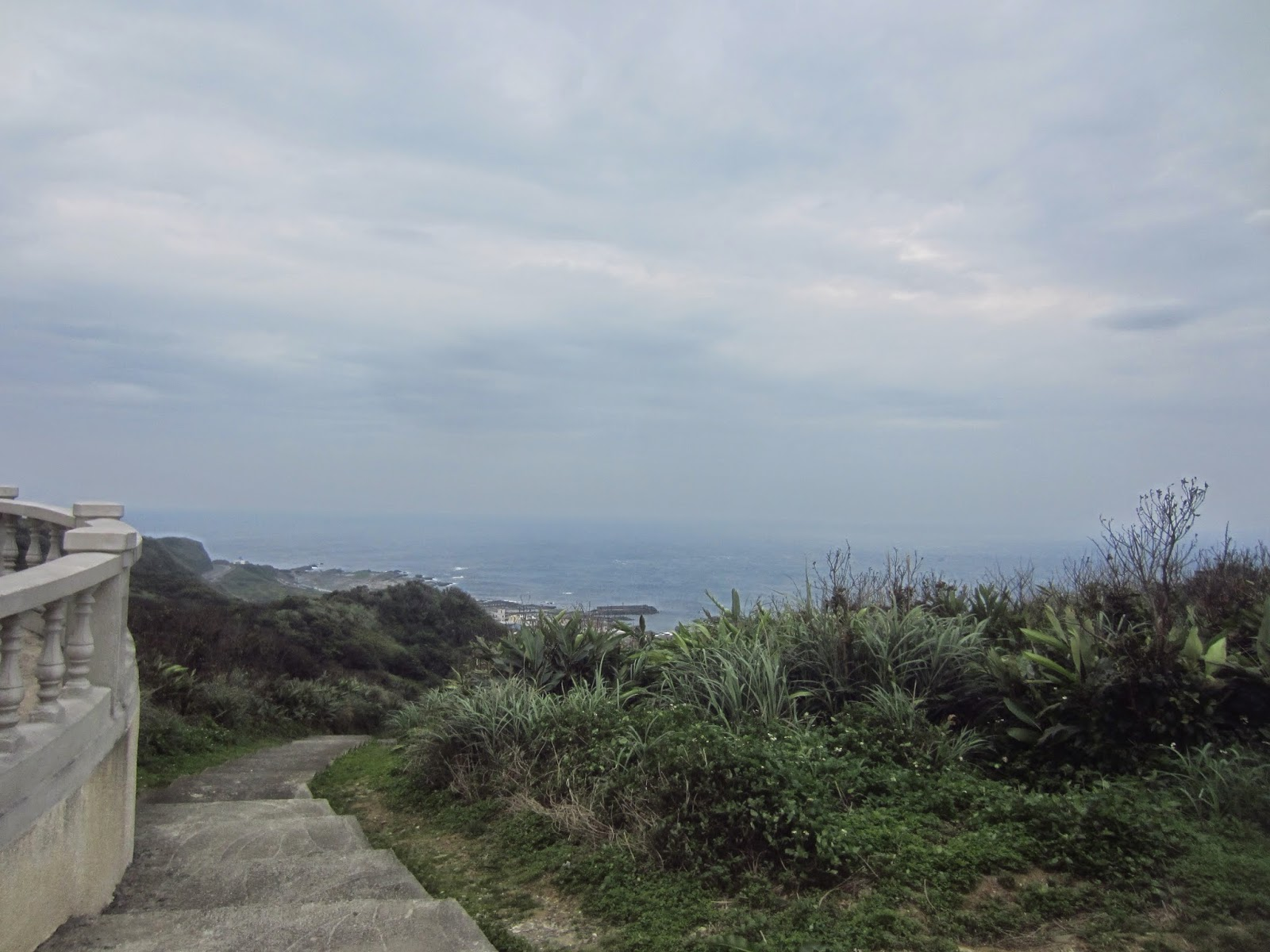 View of the Pacific Ocean from Sandiaoling Lighthouse in Fulong, Taiwan