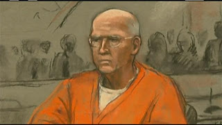 An artist rendering of Whitey Bulger from his trial in Boston.