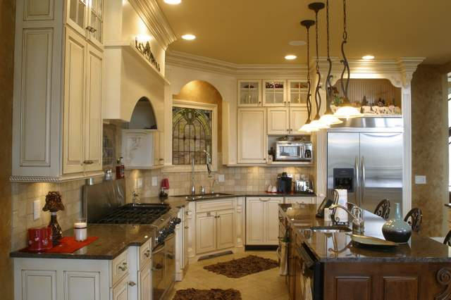 Astonishing glaze kitchen cabinets