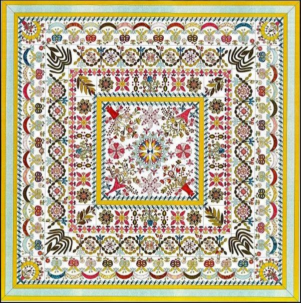 Marijke 39 s quiltcrea stukje verder met de sterrenhexquilt eerste werk van deel 2 van de love - Quilts gele ...
